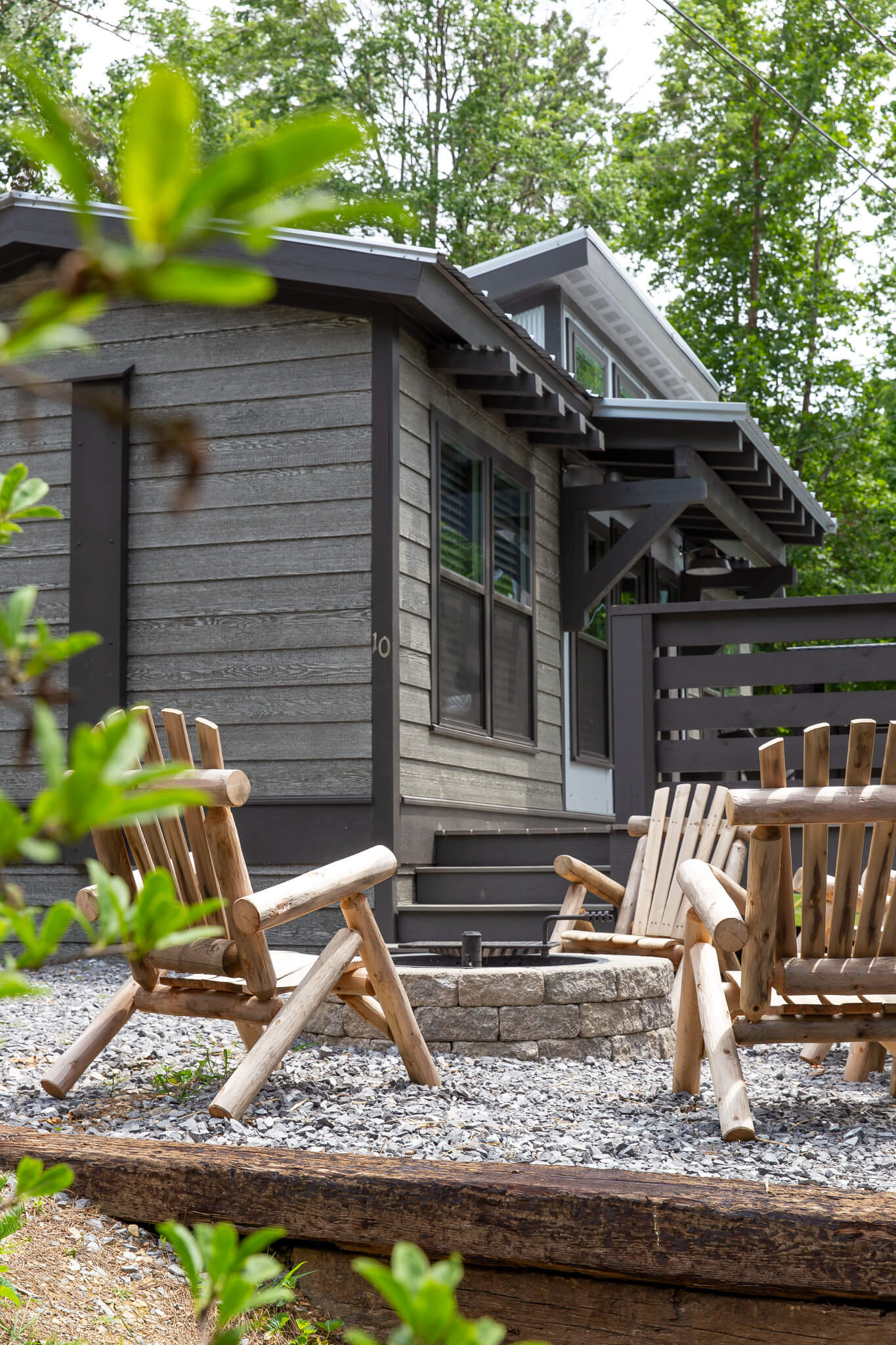 The Townsend Tiny Home in Smokies - Fire Pit and Seating Area